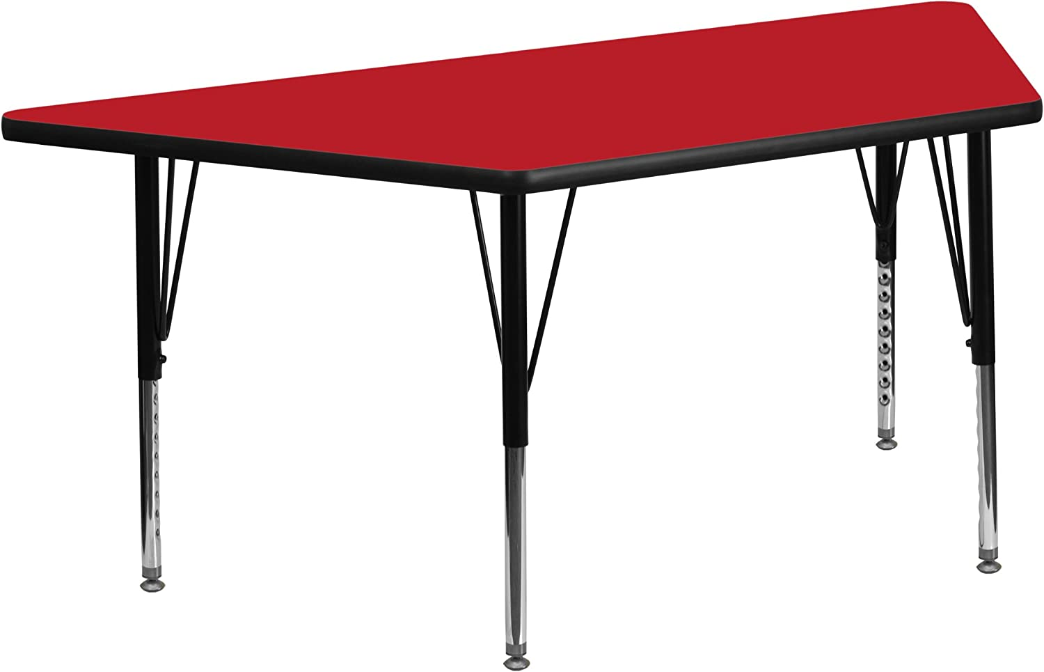 Flash Furniture 25''W x Fashionable 45''L Laminate Trapezoid Limited time sale Red HP Activity