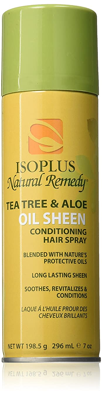Isoplus Natural Remedy Tea Tree & Aloe Oil Sheen Conditioning Hair Spray, 10.5 Ounce