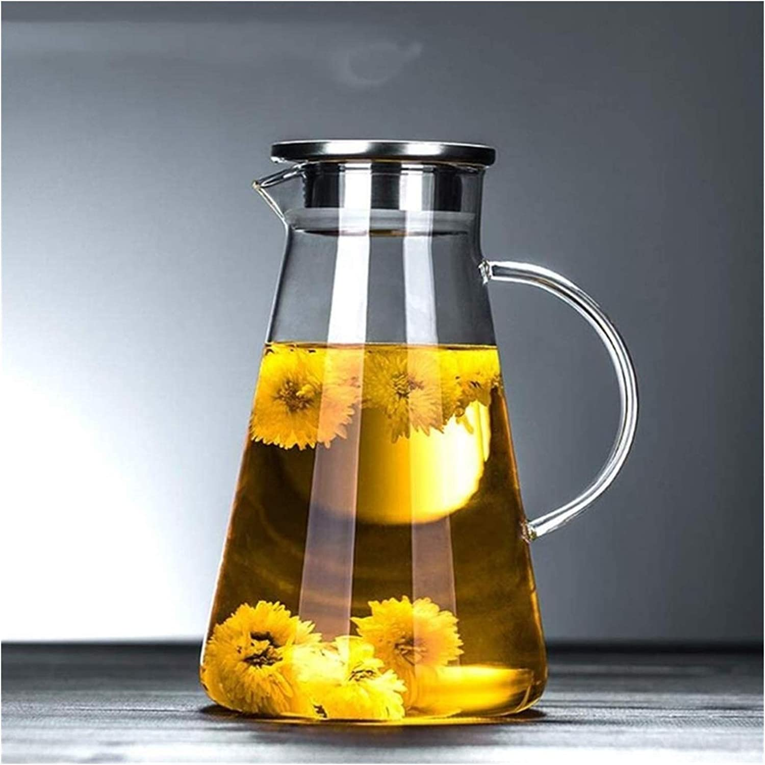 Teapot Kettle Glass Household Juice He Max 88% OFF Capacity Jug Large Memphis Mall