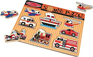 Melissa and Doug Vehicles Sound Puzzle 725 Musical Toys