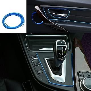 ATMOMO 5M Flexible Trim for DIY Automobile Car Interior Exterior Moulding Trim Decorative Line Strip (Blue)