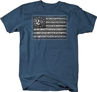 Retro 2nd Amendment American Flag NRA GunRights Graphic T Shirt for Men