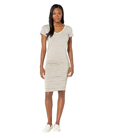 Prana Foundation Dress (Pebble Grey Heather Stripe) Women