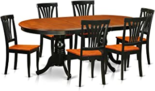 PLAV7-BCH-W 7 PC Dining room set-Dining Table with 6 Dining Chairs