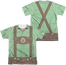 Oktoberfest Lederhosen Unisex Adult Sublimated Poly/Cotton T Shirt for Men and Women