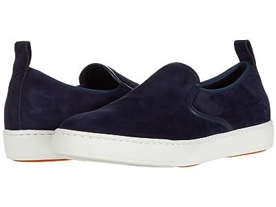 Santoni Panel Sneaker (Blue Suede) Men