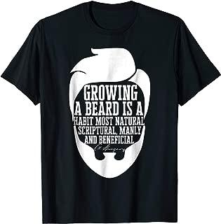 Beard Quote Graphic T-Shirt Charles Haddon Spurgeon