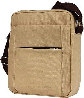 Wultia - Hot Sale Men Messenger Bag High Quality Waterproof Shoulder Bag for Women Business Travel Crossbody Bag Bolsos Hombre Beige