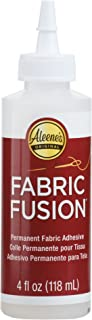 Aleene's 23473 Fabric Fusion Permanent Fabric Adhesive ,Clear,4oz