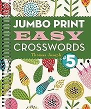 Jumbo Print Easy Crosswords #5 (Large Print Crosswords)