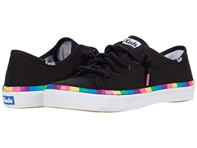 Keds Kids Kickstart Seasonal (Little Kid/Big Kid) (Black/Multi Rainbow) Girl