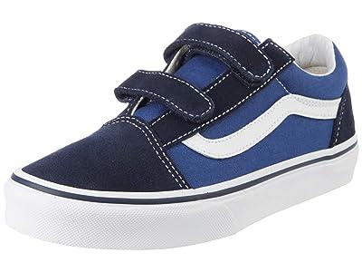 Vans Kids SINGLE SHOE Old Skool V (Little Kid/Big Kid) (Navy/True White) Kid