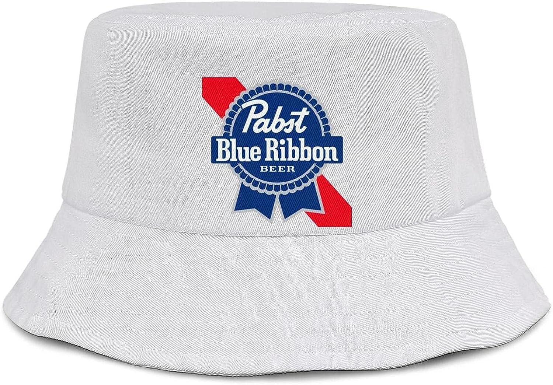 Pabst-Blue-Ribbon-Beer- Unisex Bucket Hats Sun Caps
