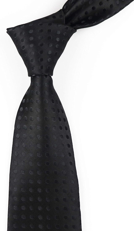 Men's Classic Polka Dot Silk Ties Fun Business Wedding Party Neckties by Vinesen