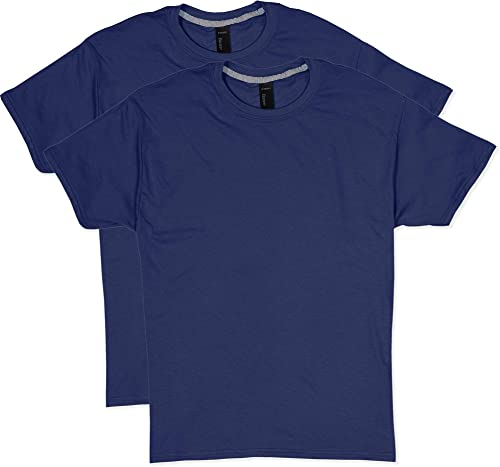 Hanes Hommes's 2 Pack X-Temp Perforhommece T-Shirt, Navy, Medium