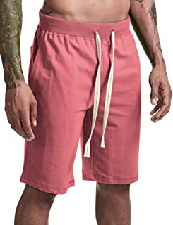 Arloesi Men's Casual Cotton Printing Sweat Athletic Shorts