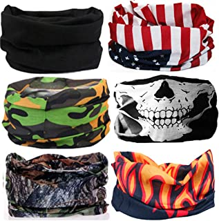 KALILY 12PCS/9PCS/6PCS Headband Bandana - Versatile Sports & Casual Headwear –Multifunctional Seamless Neck Gaiter, Headwrap, Balaclava, Helmet Liner, Face Mask - Camping, Running, Cycling, Fishing