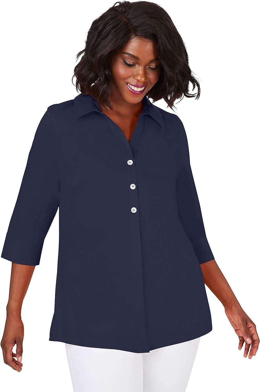 Fashion Foxcroft Women's 4 years warranty Plus Size Pamela Non-Iron Stretch Tuni 3 SLV.