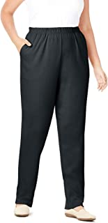 Women's Plus Size Petite 7-Day Knit Straight Leg Pant