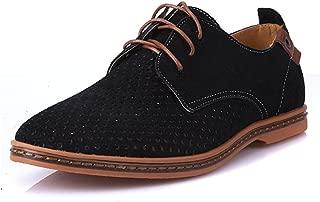 Men Oxfords Shoes Man Summer Breathable Suede Leather Shoes British Man Cut Outs Dress Shoes