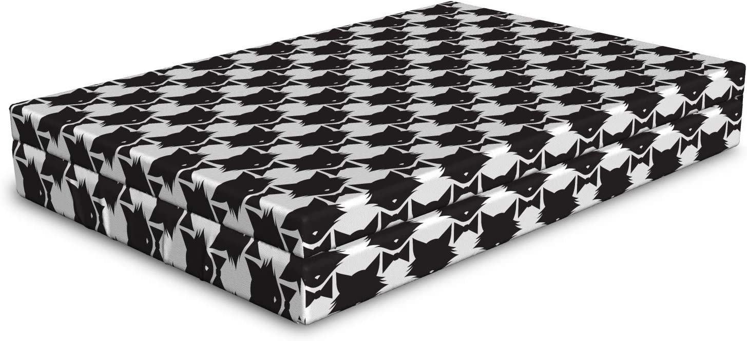 Ambesonne Cat Lover Max 67% OFF Dog Bed Silh Pattern Monochromatic Kitty overseas of