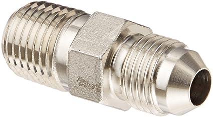 9 Units Straight Adapter Steel 3//4 in Male JIC 37/° Flare x 1 in Male JIC 37/° Flare Brennan