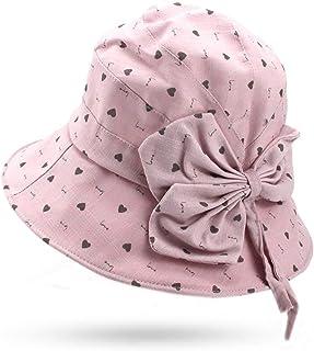 1343ecefb1019 Novel Women Fishing Hat Female Cartoon Bow Tie Bucket Hat Sunscreen Sun Hat  Flat Fisherman Cap