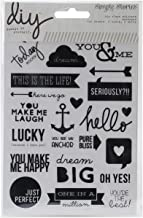 Simple Stories DIY Insta Clear Stickers, 4 by 6-Inch, Words, 4 Per Package