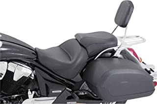 Mustang Vintage Wide Touring 2-Piece Seat for Yamaha 1998-2013 V-Star 650 Custom - Black - One Size