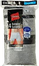 Hanes 4 Pack TAGLESS Boxer Briefs w/Flex Waistband