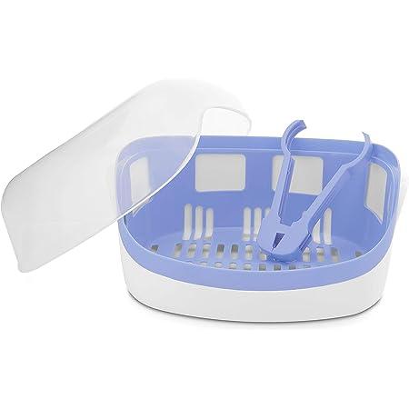 Chicco Sterilizzatore per Microonde, Bianco/Blu