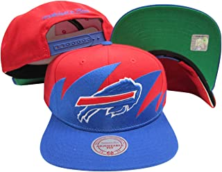 Buffalo Bills Mitchell & Ness Snapback Adjustable Plastic Snap Back Hat/Cap