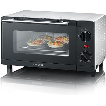 SEVERIN TO 2052 Horno Tostador incluye Rejilla grill y Bandeja de horno, 800 W, 9 L, color plateado y negro