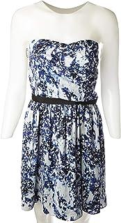 Naf Naf Casual Dresse for Women, Blue & White
