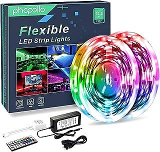 Phopollo LED Lights 32 FT RGB Led Strip Lights for...