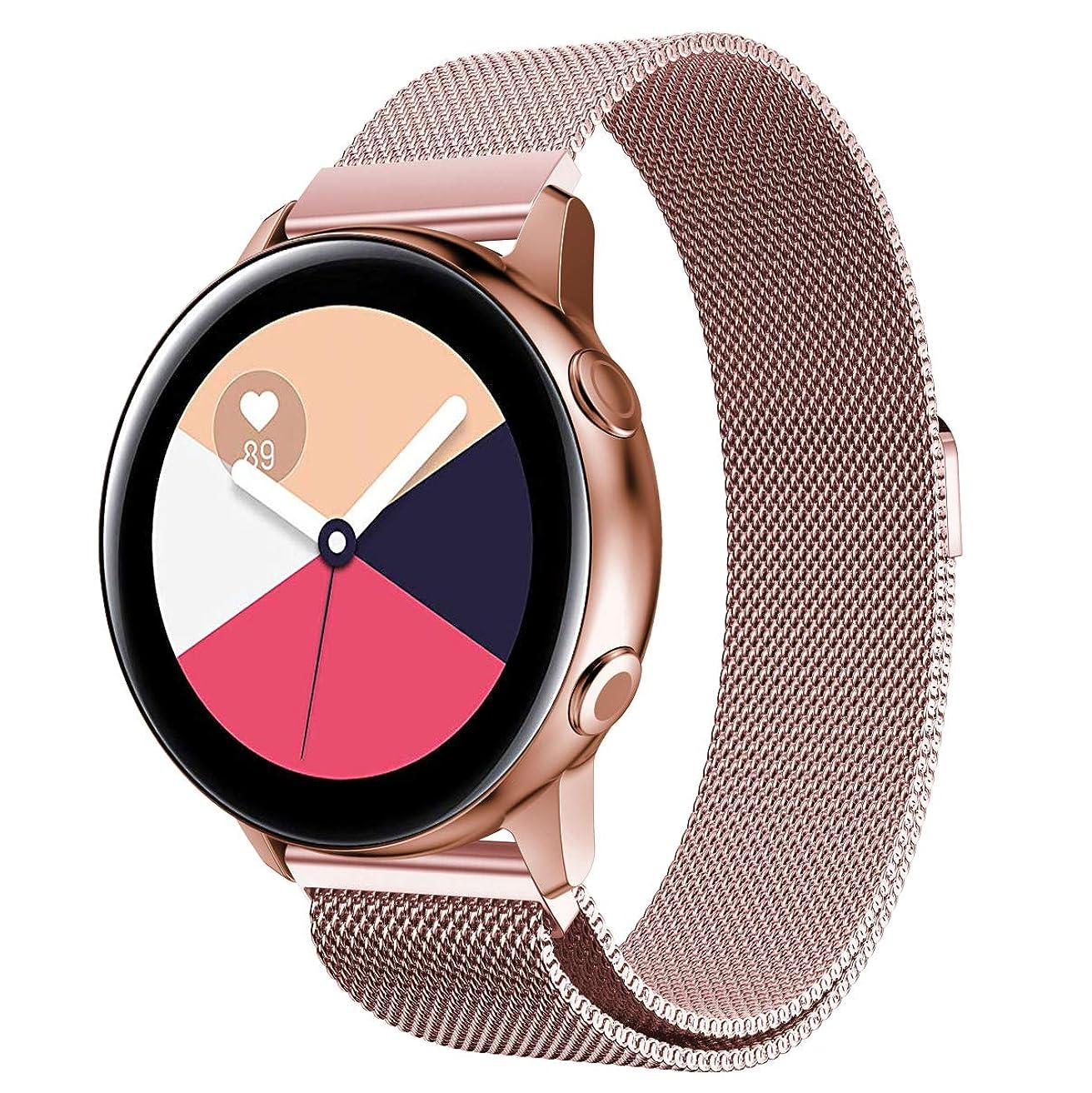 努力するおそらくわずかにComtax for Samsung Galaxy Watch Active ベルト 交換用バンド ステンレス オシャレ ストラップ 多色選択 調整可能 対応 Samsung Galaxy Watch Active (ピンク)