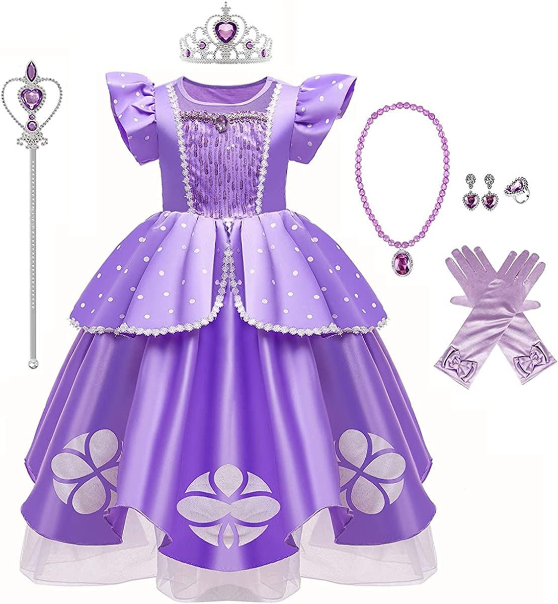 MYRISAM Special price for a limited time Rapunzel Princess Halloween Dress Deluxe Sofia Bargain Costume P