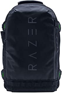 "Razer Rogue v2 17.3"" Gaming Laptop Backpack: Tear & Water Resistant Exterior - Mesh Side Pocket for Water Bottles - Dedicated Laptop Compartment - Made to Fit 17 inch Laptops"