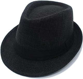 JEEDA Vintage Fedora Trilby Jazz Gentleman's Flat Hat Panama Hat for Men Women