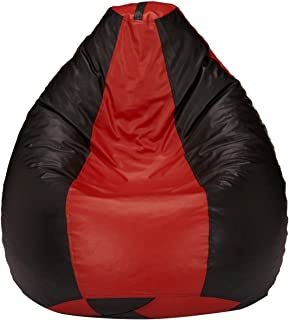Amazon Brand - Solimo XL Bean Bag Cover Without Beans (Red and Black)