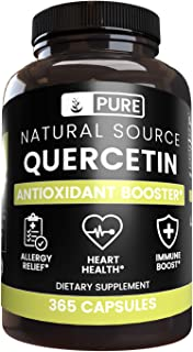 Sponsored Ad - Quercetin, 365 Capsules, 880 mg Servings, Lab-Tested Pure & Potent Bioflavonoid, No Stearates or Fillers, N...