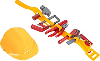 Kids Tool Toy - Pretend Play Childrens Tool Belt Set with Hard Hat, Tape Measure and Toy Hand Tools