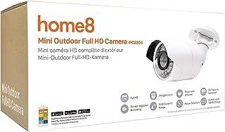Home8 Smart Home - Cámara de vídeo inalámbrica HD para Exteriores con función de visión Nocturna infrarroja automática y Faro LED controlable y controlable con la aplicación Home8