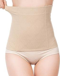 Glus Women's Cotton Spandex Tummy Tucker Belt Shape Up Corset - No Rolling Down