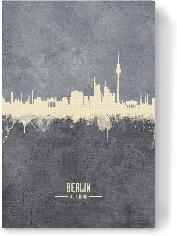 ArtboxONE Leinwand 120x80 cm Städte Städte Städte Berlin Germany Skyline grau von Michael Tompsett B07CXDF75N   Online Kaufen  a07618