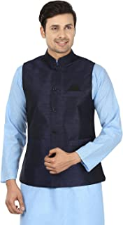 Maple Clothing Mens Sleeve Less Silk Nehru Jacket Traditional India Waistcoat