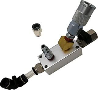 """Compressed Air Oultlet, Compressed Manifold Kit, Air Compressor Accessories for 3/8"""" OD Nylon Tube System"""