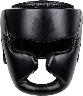 Adjustable Kick Boxing Training Headgear Head Guard Sparring Gear Face Helmet