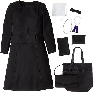 (マーガレット)marguerite m433 ブラックフォーマル レディース 喪服 礼服 7点セット バッグ ネックレス イヤリング ふくさ ハンカチ 数珠 折畳トート