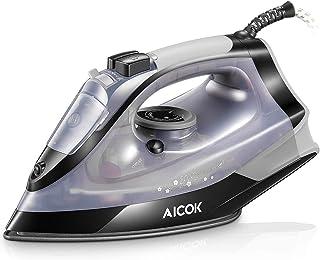 AICOK Plancha Ropa, Plancha de Vapor 2200W con Anti-Escala, Revestimiento Ceramic Coat, Anti Goteo, Auto Limpieza, 5 Modos...